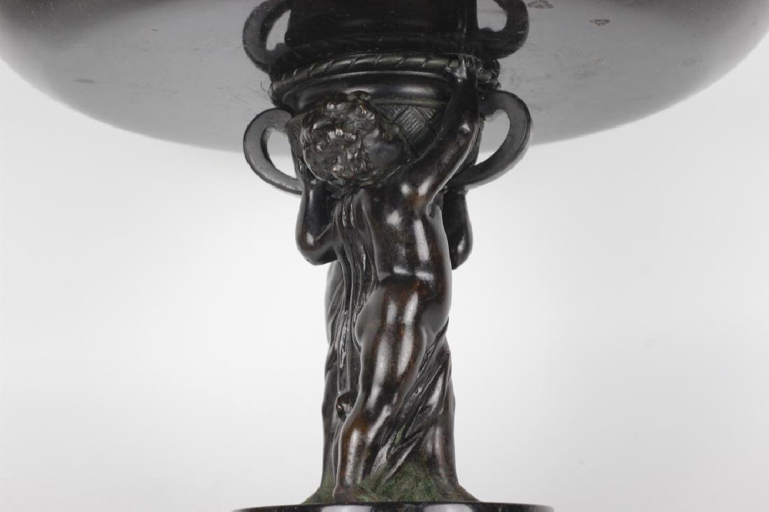 19thc Marble & Bronze Footed Compote - 6