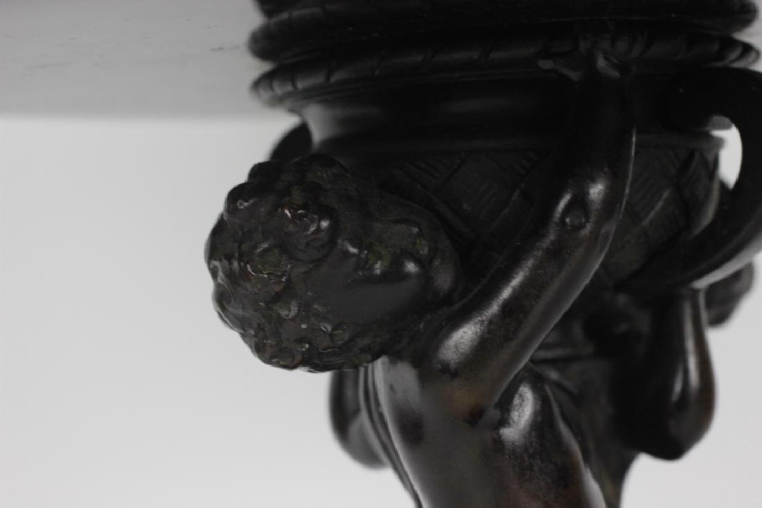 19thc Marble & Bronze Footed Compote - 9