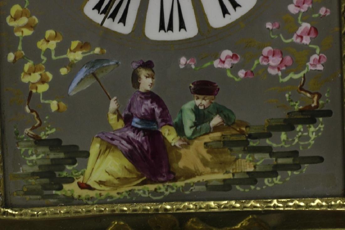 Unusual19thc Paris Porcelain Platinum Ground Clock - 6