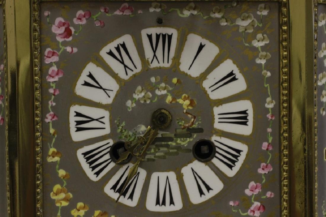 Unusual19thc Paris Porcelain Platinum Ground Clock - 7