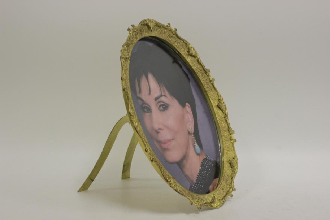 Bronze Picture Frame, Oval Shape w/ Easel Back - 2
