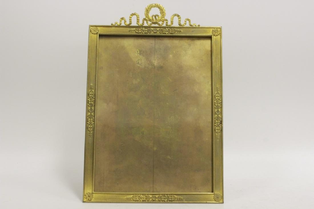 French Heavy Bronze Picture Frame w/ Easel Back