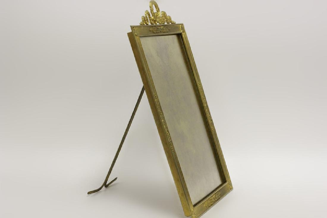 French Heavy Bronze Picture Frame w/ Easel Back - 6