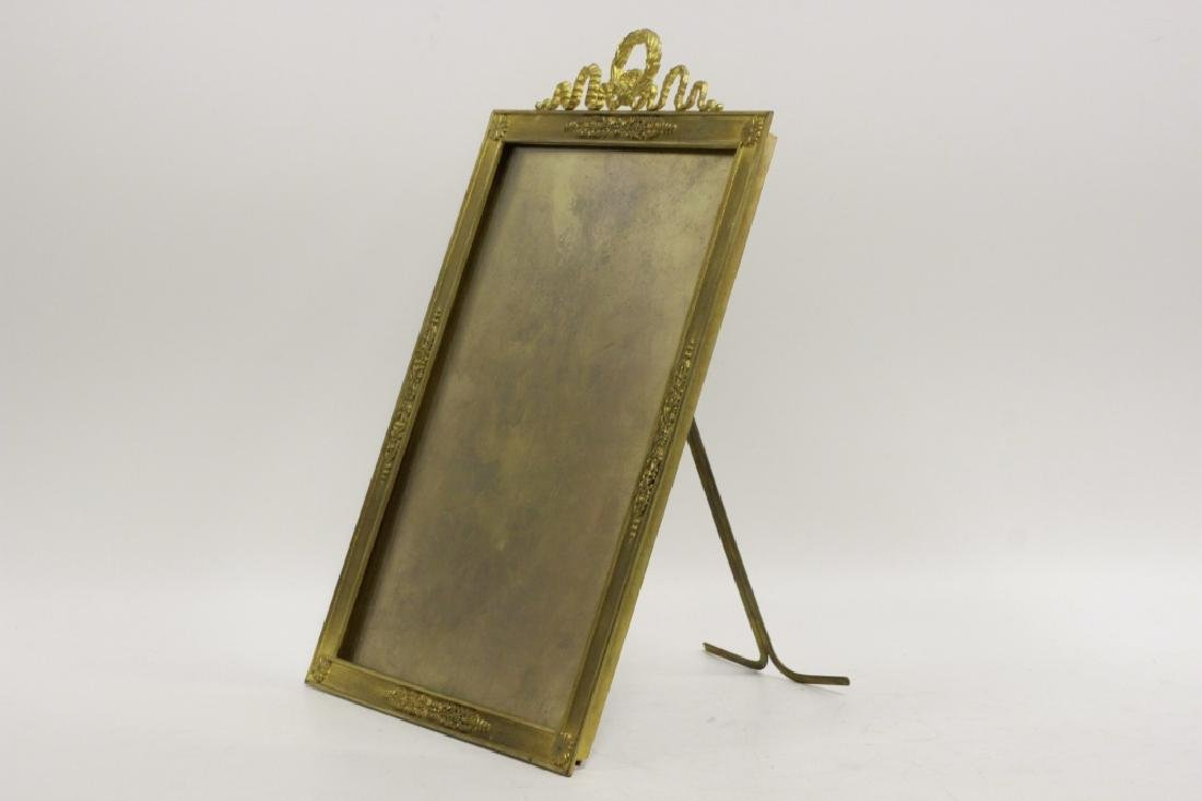 French Heavy Bronze Picture Frame w/ Easel Back - 7