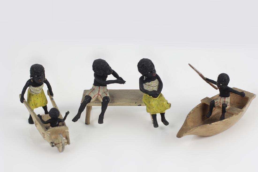 3 19thc Vienna Bronze Mini Blackamoor Figurines