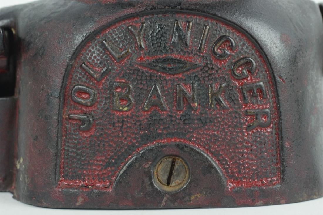 Old American Blackamoor Iron Mechanical Bank - 6