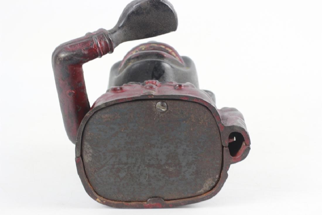 Old American Blackamoor Iron Mechanical Bank - 9