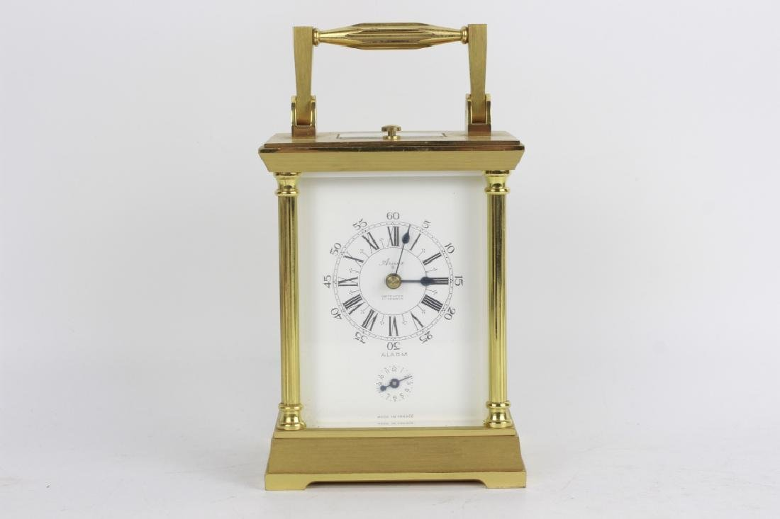 French 1960's Gilt Bronze Repeater Carriage Clock - 10