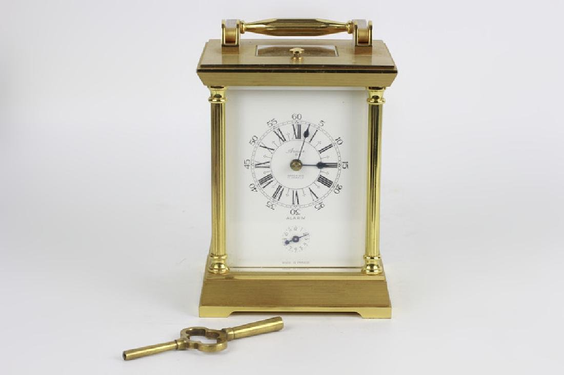 French 1960's Gilt Bronze Repeater Carriage Clock