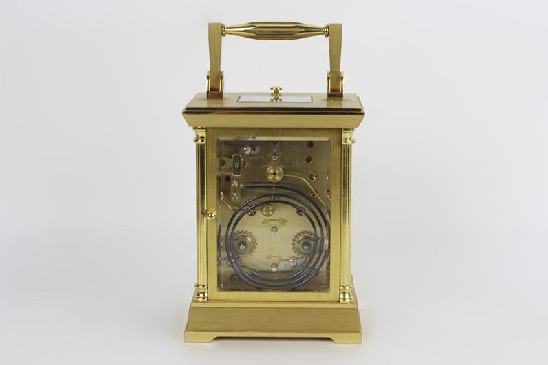 French 1960's Gilt Bronze Repeater Carriage Clock - 5
