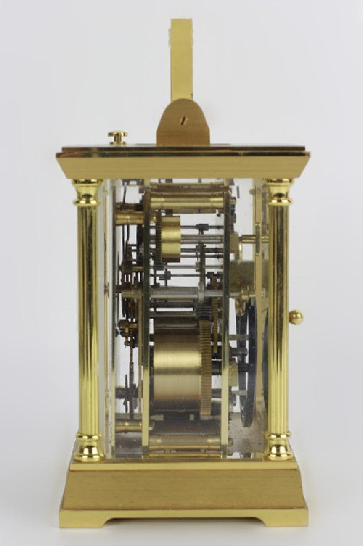 French 1960's Gilt Bronze Repeater Carriage Clock - 8