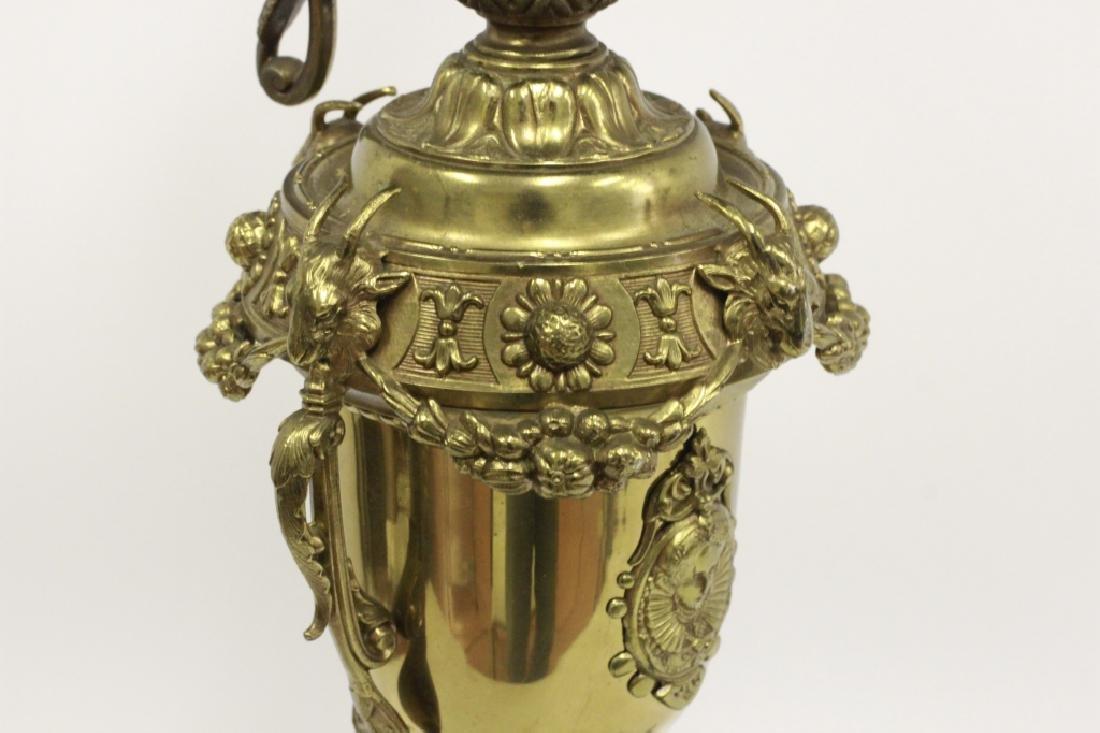Pair of Italian Brass Ewer Lamps - 10
