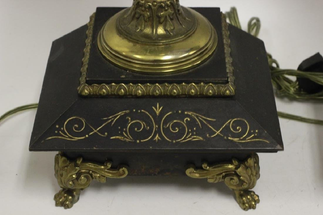 Pair of Italian Brass Ewer Lamps - 5