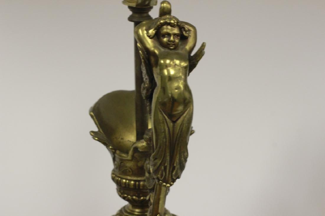 Pair of Italian Brass Ewer Lamps - 6
