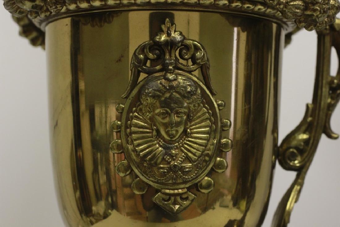 Pair of Italian Brass Ewer Lamps - 7