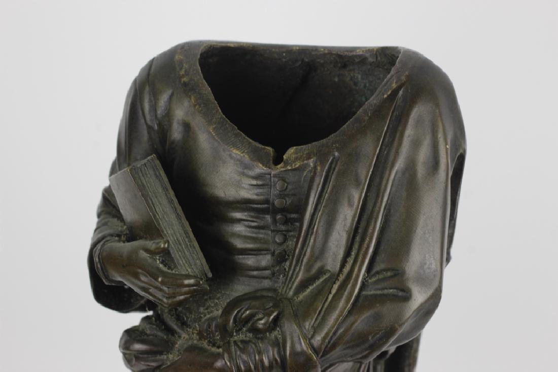 19thc Large Bronze Sculpture of Dante Alegheri - 10