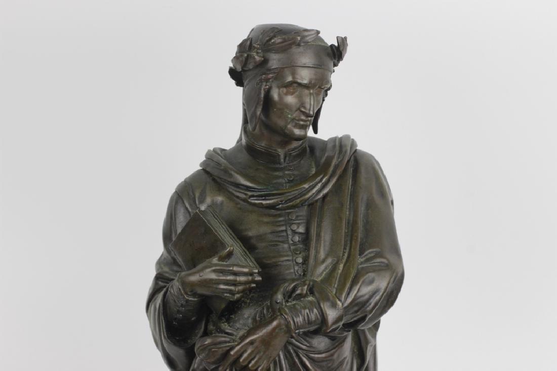 19thc Large Bronze Sculpture of Dante Alegheri - 2
