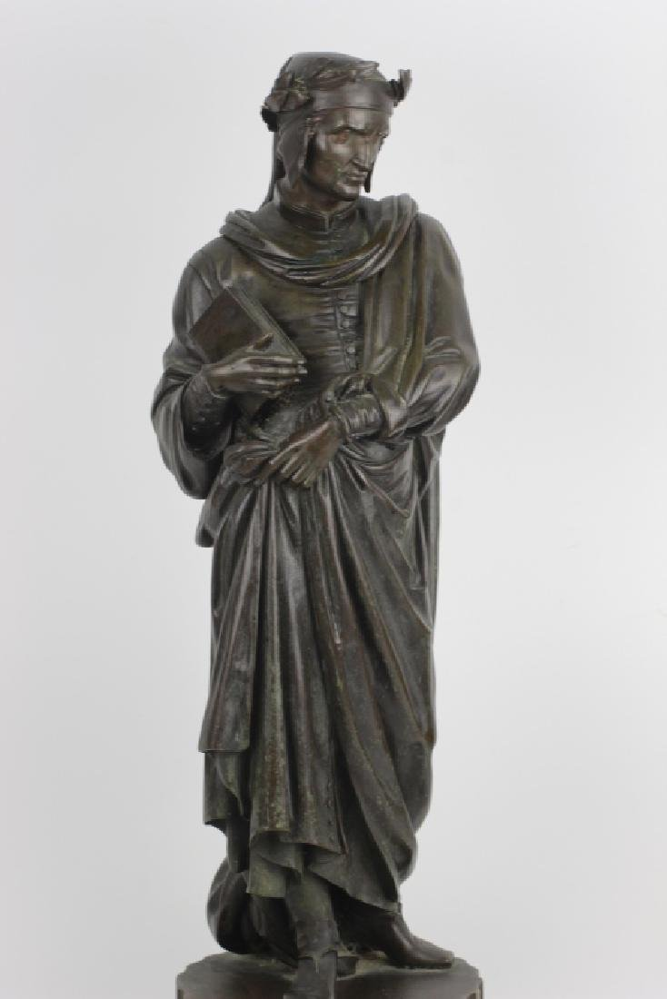 19thc Large Bronze Sculpture of Dante Alegheri - 4