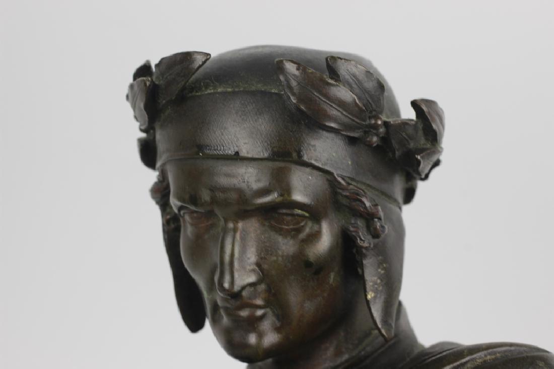 19thc Large Bronze Sculpture of Dante Alegheri - 5
