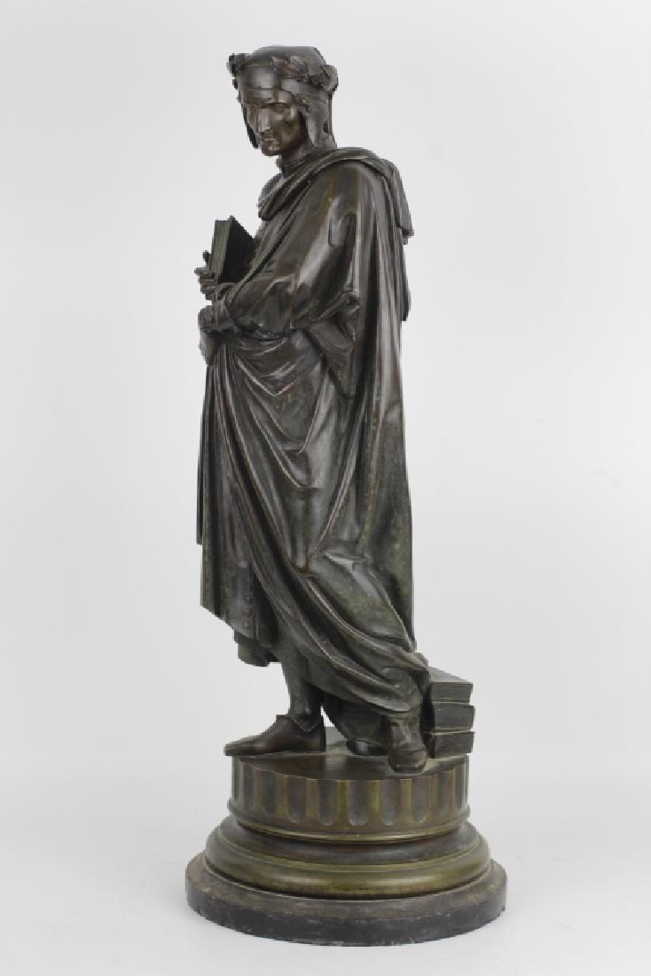19thc Large Bronze Sculpture of Dante Alegheri - 6