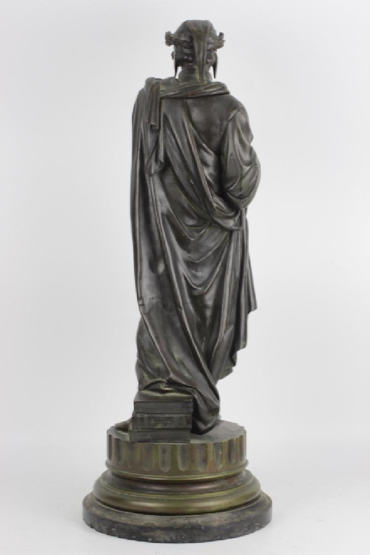 19thc Large Bronze Sculpture of Dante Alegheri - 7