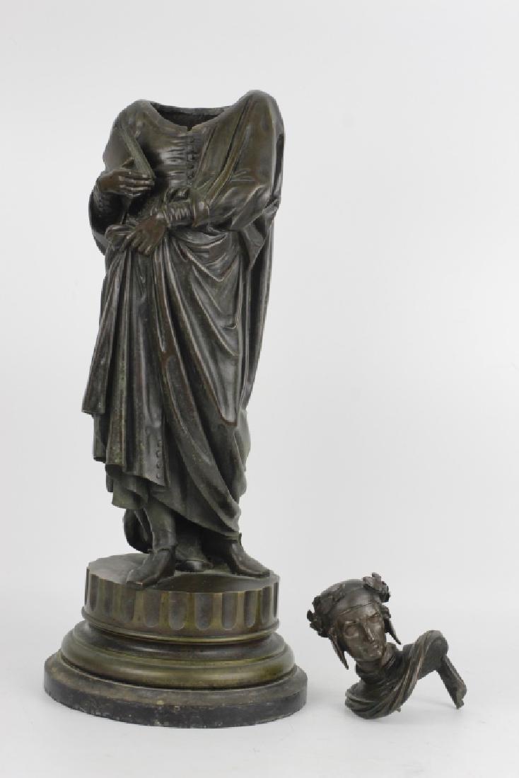 19thc Large Bronze Sculpture of Dante Alegheri - 9