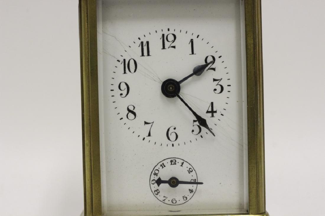 Vintage Bronze Carraige Clock, Made in France - 2