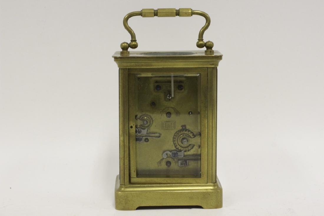 Vintage Bronze Carraige Clock, Made in France - 3