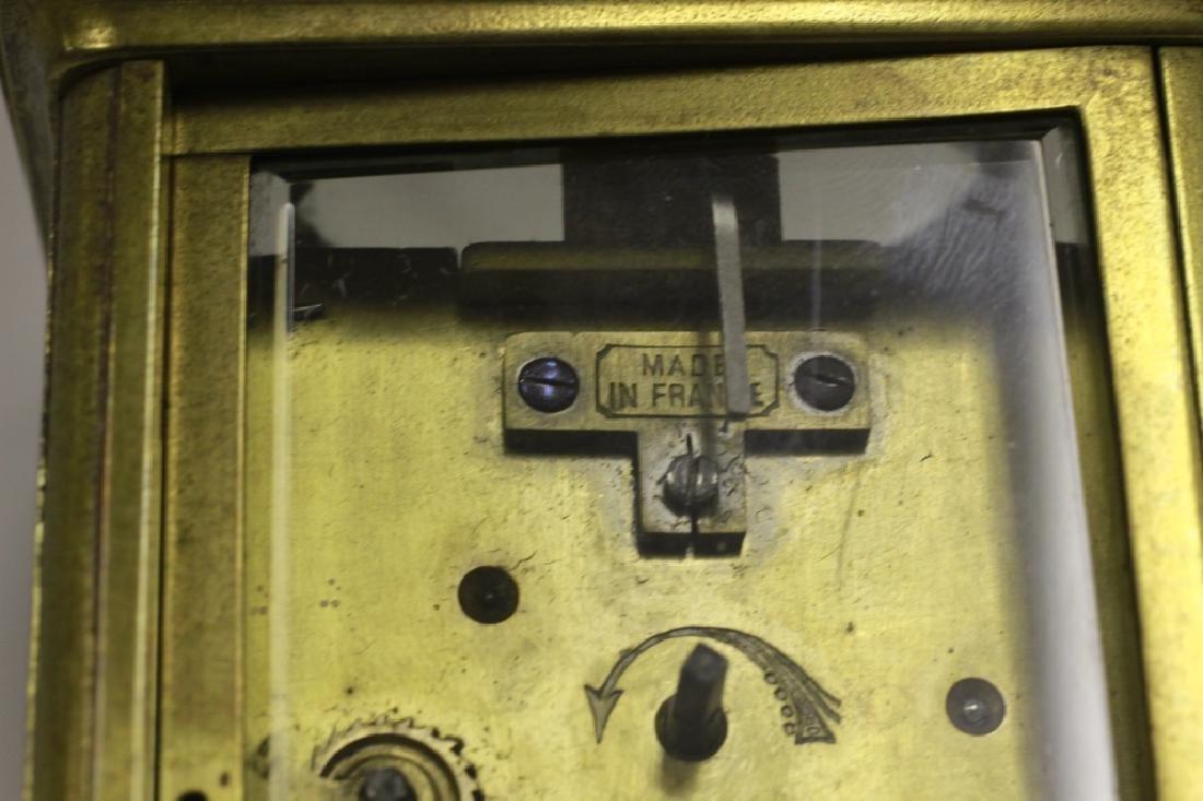 Vintage Bronze Carraige Clock, Made in France - 4
