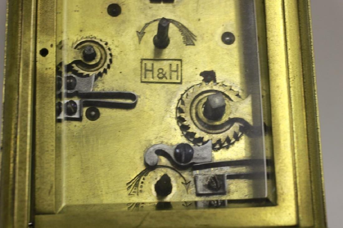 Vintage Bronze Carraige Clock, Made in France - 5
