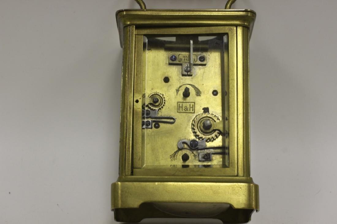 Vintage Bronze Carraige Clock, Made in France - 6