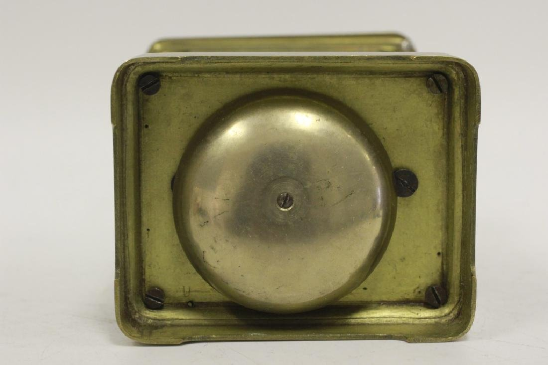 Vintage Bronze Carraige Clock, Made in France - 7