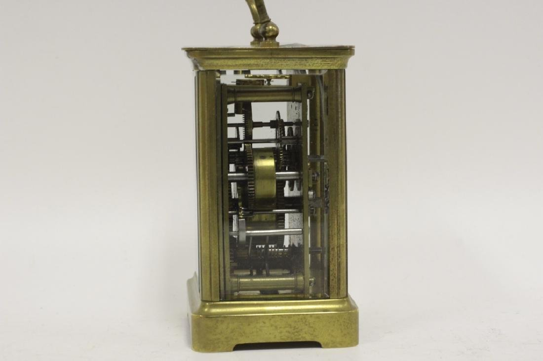 Vintage Bronze Carraige Clock, Made in France - 8