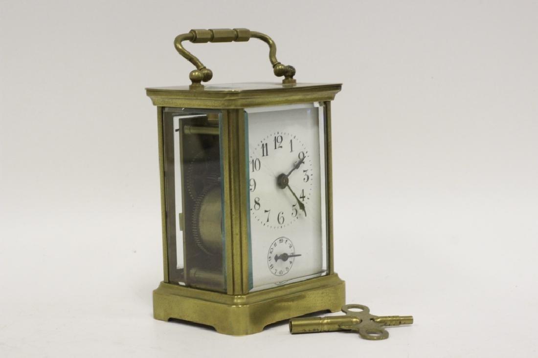 Vintage Bronze Carraige Clock, Made in France - 9