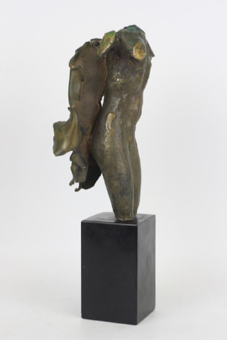 Unusual Bronze Figure of Winged Man Signed & Dated - 2