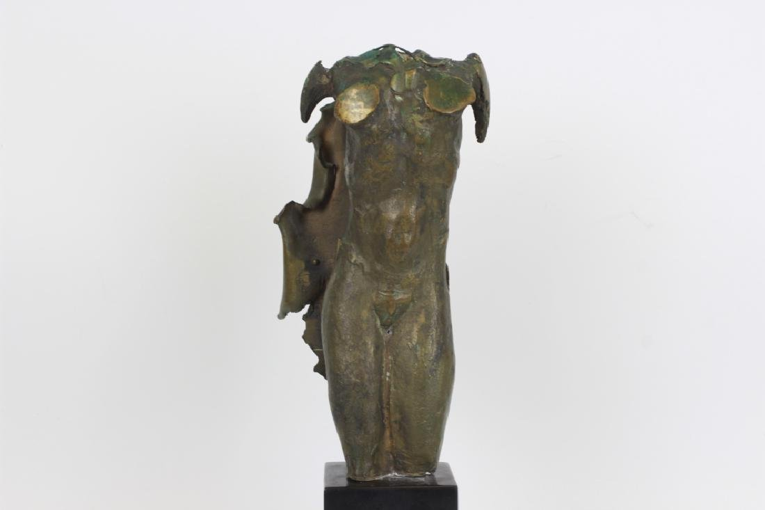 Unusual Bronze Figure of Winged Man Signed & Dated - 3