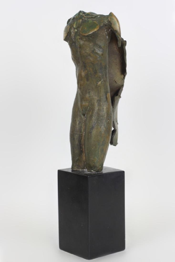 Unusual Bronze Figure of Winged Man Signed & Dated - 4