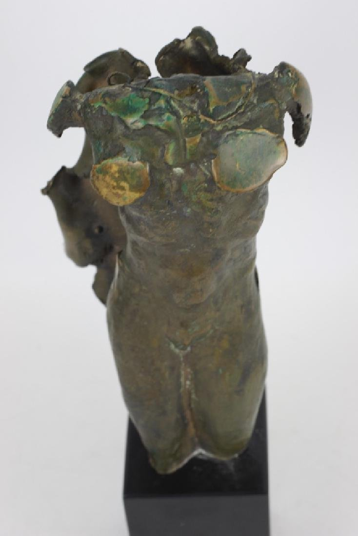 Unusual Bronze Figure of Winged Man Signed & Dated - 6