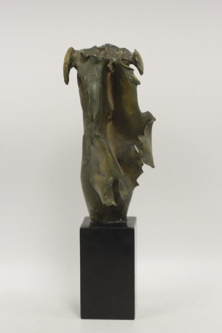 Unusual Bronze Figure of Winged Man Signed & Dated - 7