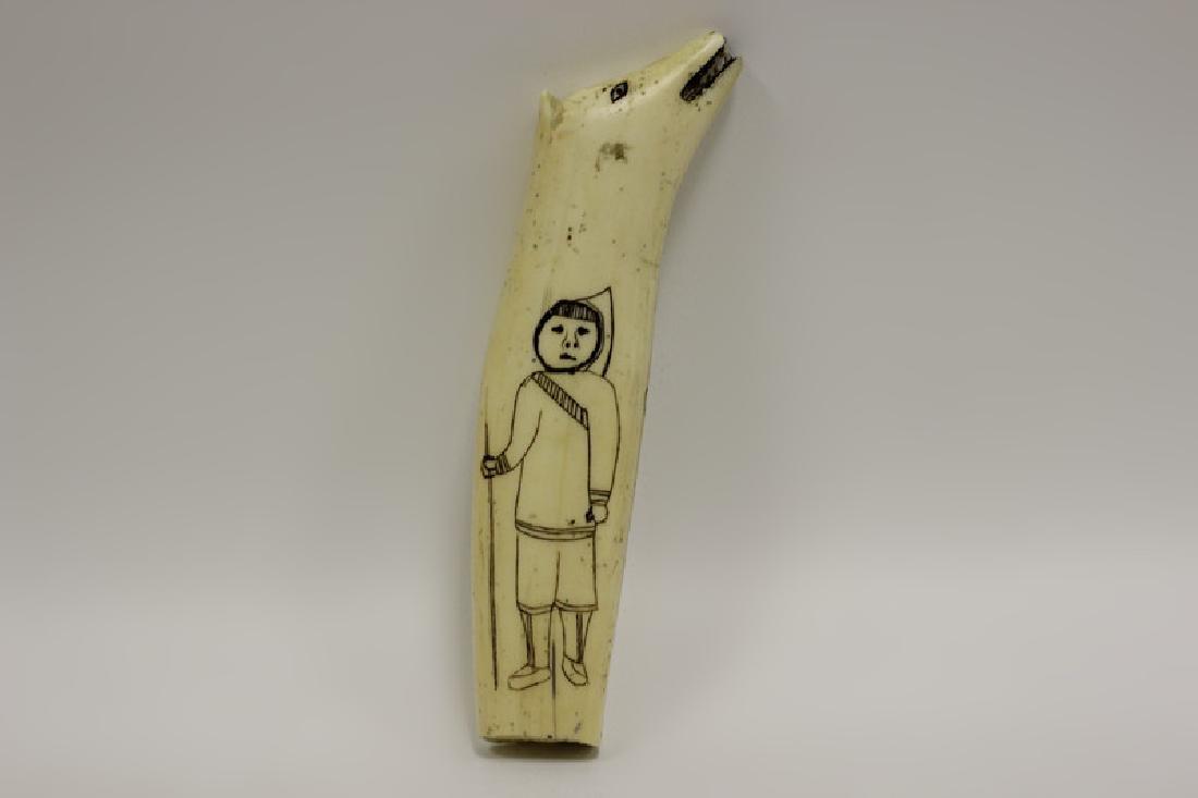 Scrimshaw Carving of Eskimos