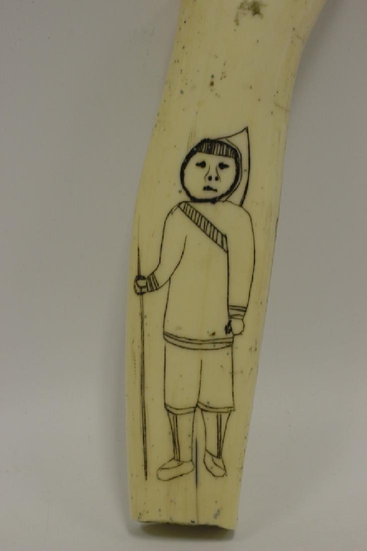 Scrimshaw Carving of Eskimos - 2