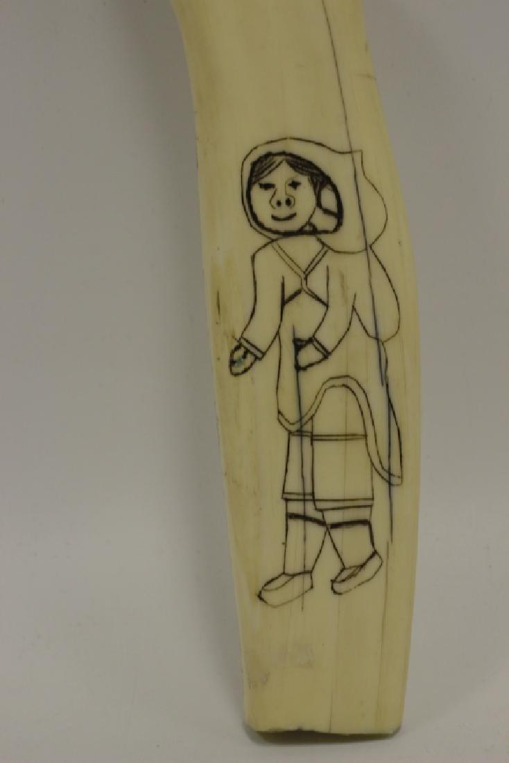 Scrimshaw Carving of Eskimos - 3