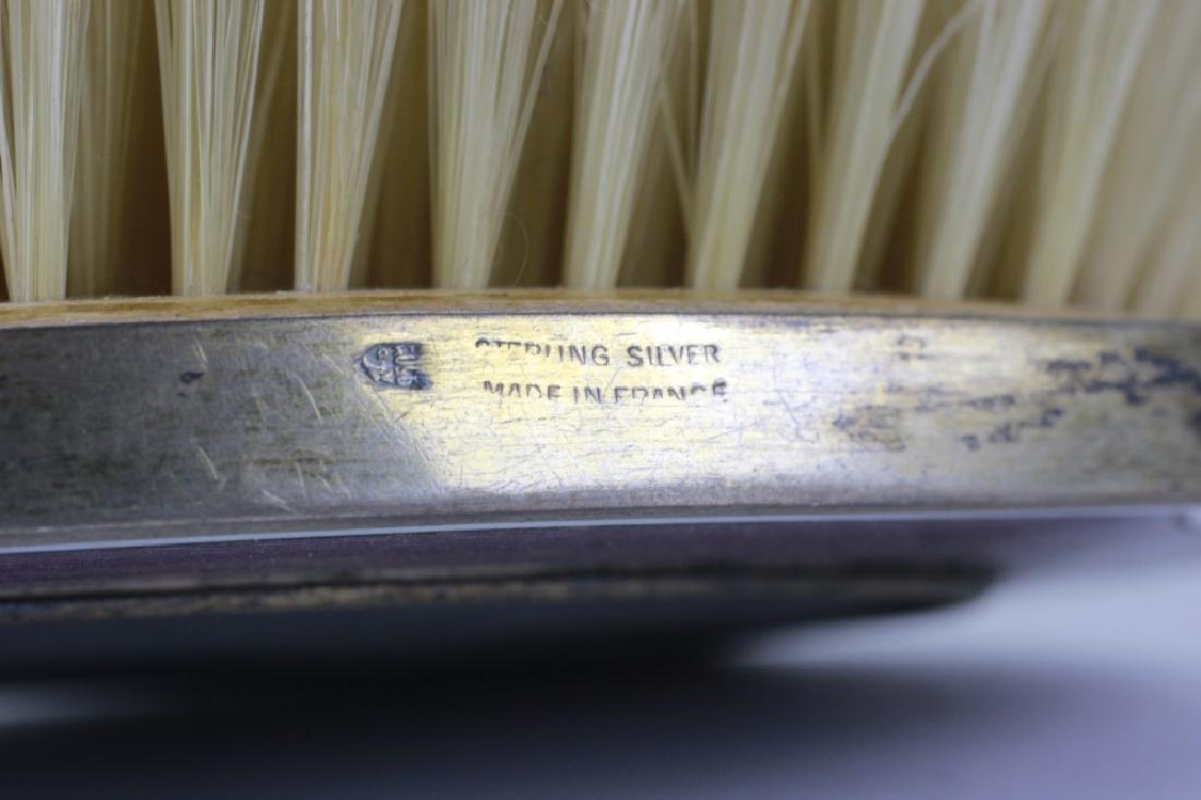 19thc 4pc Silver & Enamel Vanity Set - 6