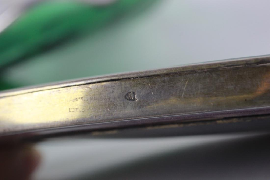 19thc 4pc Silver & Enamel Vanity Set - 7