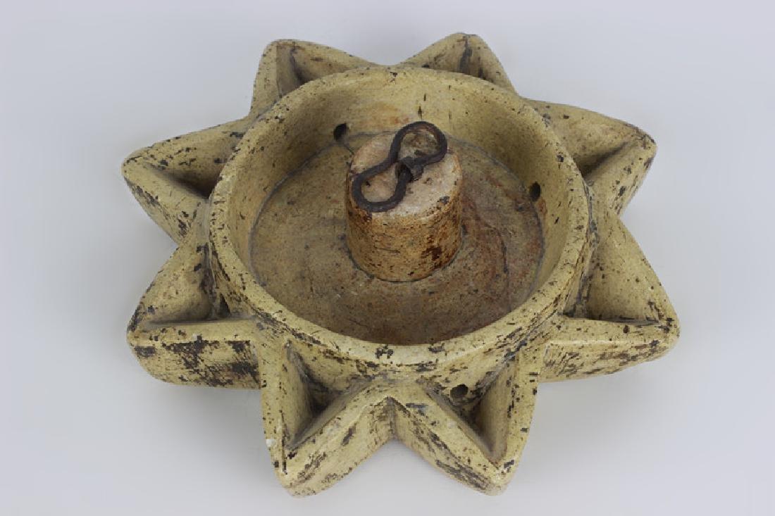 Early 19thc Rare Judaica Stone Hanukkah Oil Burner