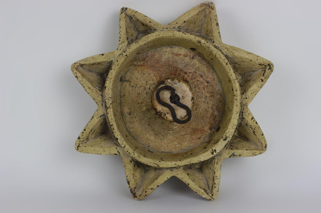 Early 19thc Rare Judaica Stone Hanukkah Oil Burner - 2
