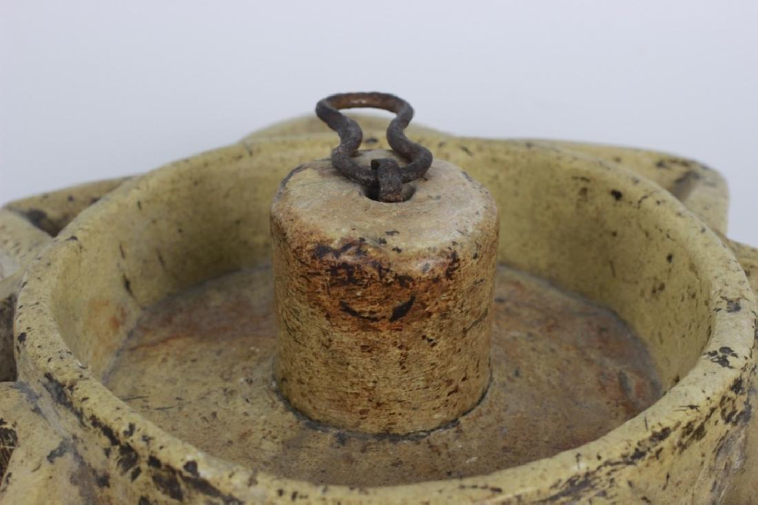 Early 19thc Rare Judaica Stone Hanukkah Oil Burner - 3