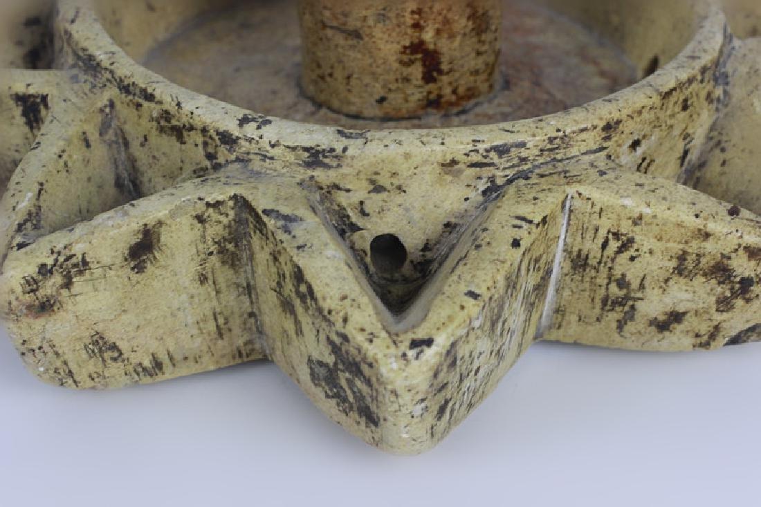 Early 19thc Rare Judaica Stone Hanukkah Oil Burner - 6