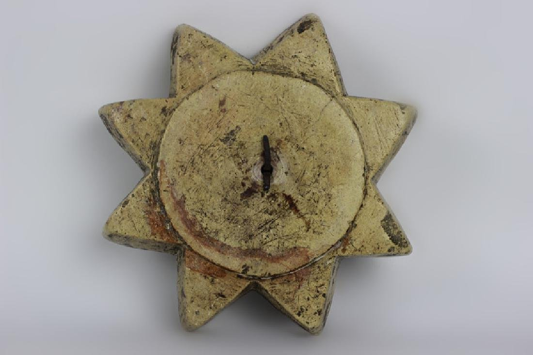 Early 19thc Rare Judaica Stone Hanukkah Oil Burner - 8