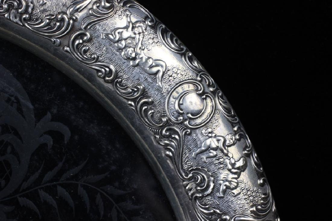 German Silver & Glass Tray - 4